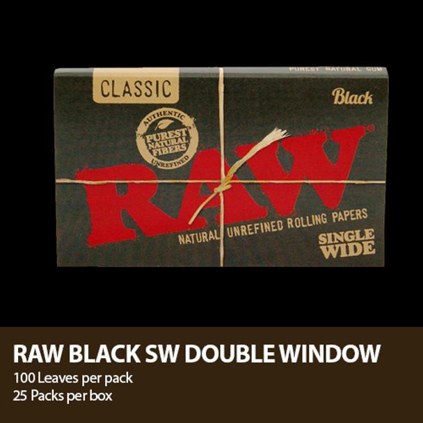 RAW CLASSIC BLACK ROLLING PAPER 1 1/4