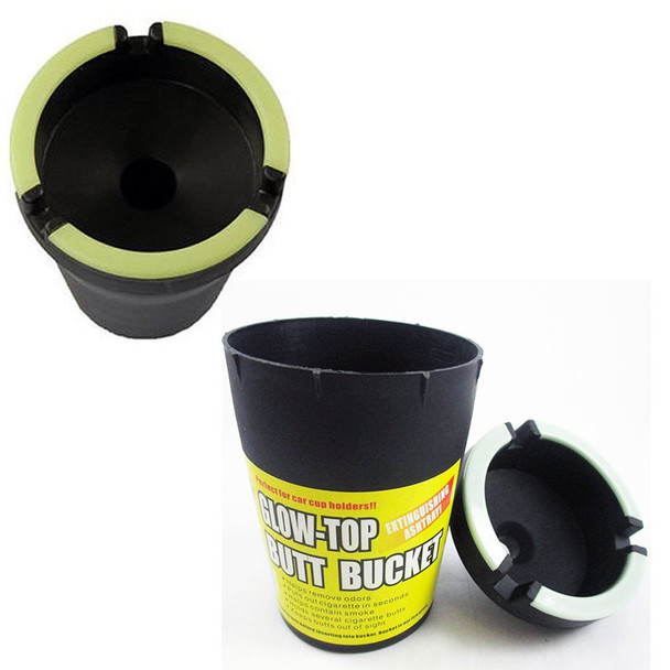 Butt Bucket Cup Holder Ashtray: Odor Eliminating Car Ashtray by Its Cool