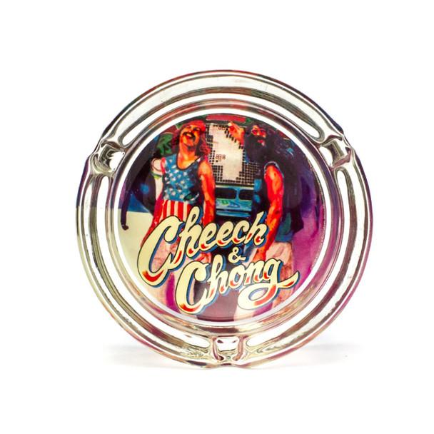 Cheech and Chong Glass Ashtray Truckin