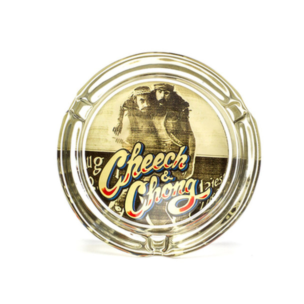 Cheech and Chong Glass Ashtray Party