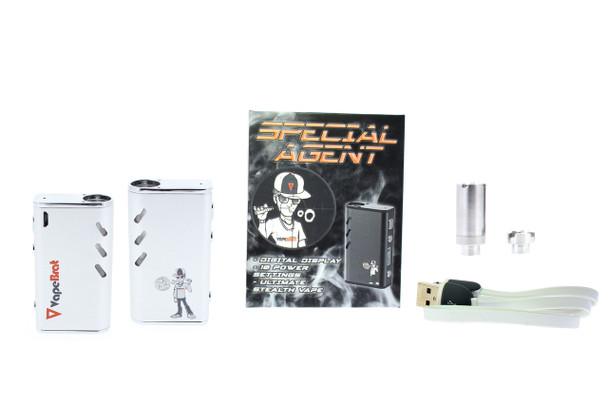 Special Agent Conceal Wax Vape Juice Pen Kit : White