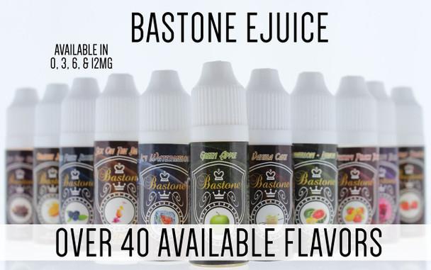 Bastone E-Hookah Vapor Liquid: Pomegranate Strawberry Nicotine-Free