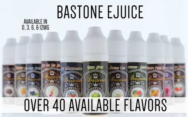 Bastone E-Hookah Vapor Liquid: Strawberry Peach Twist Nicotine-Free