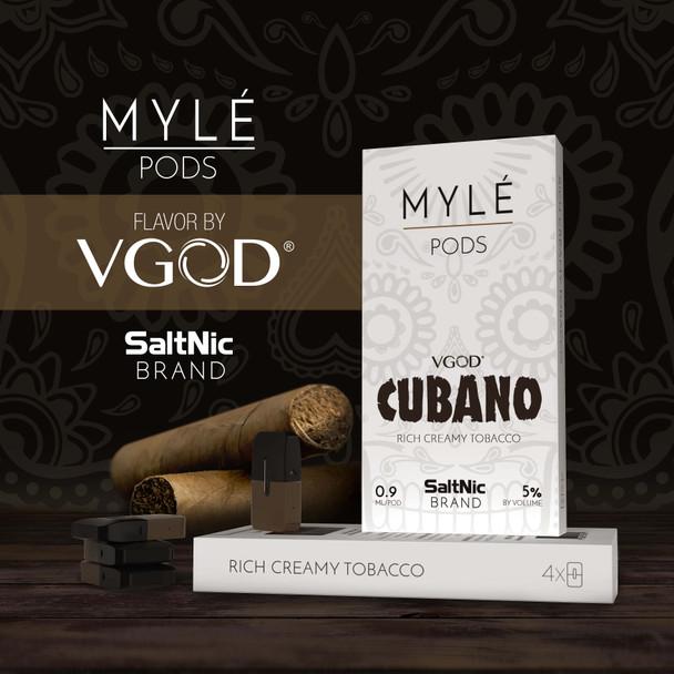 Myle Replacement Pods by Myle Vapor (4pcs) ( VGOG CUBANO )