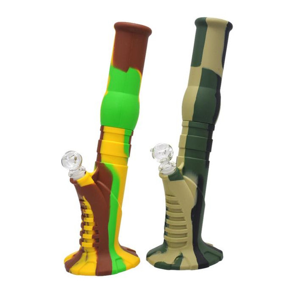 Silicone Bongs Water Pipes Big Camo Silicone Dab Bong Oil Rigs