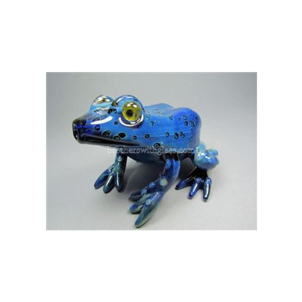 Blue Frog Glass Pipe