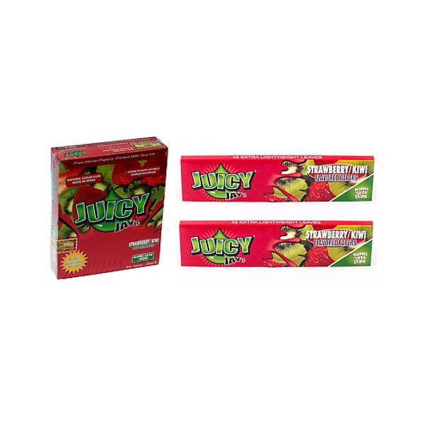 Juicy Jay's Strawberry Kiwi Kingsize Slim Rolling Paper - 32-Leaf Single Booklet