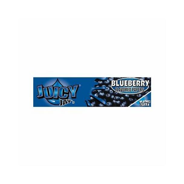 Juicy Jay's BLUEBERRY Kingsize Slim Rolling Paper - 32-Leaf Single Booklet