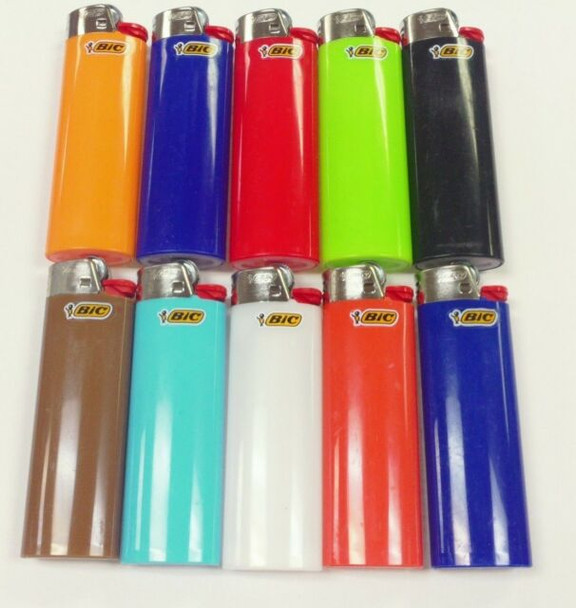 BIC LIGHTER ASSORTED COLORS NEW BIC WITH FLUID NOT REFILLABLE