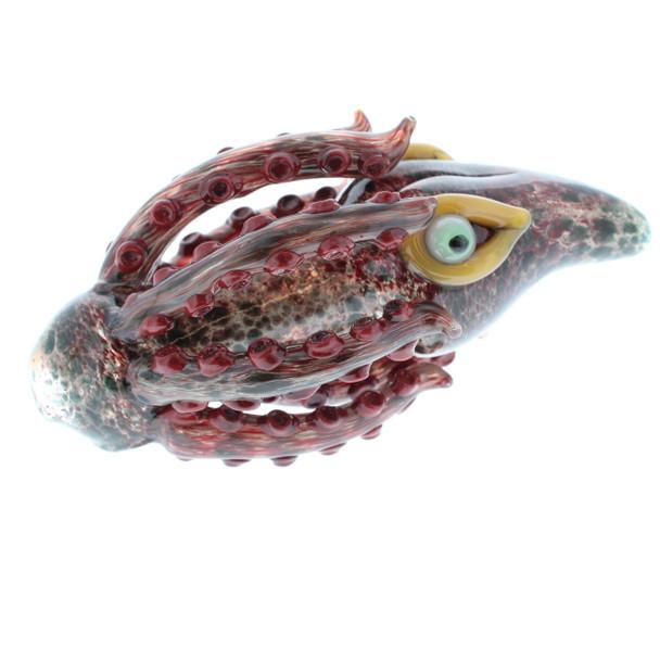 Handmade Glass Squid Hand Pipe