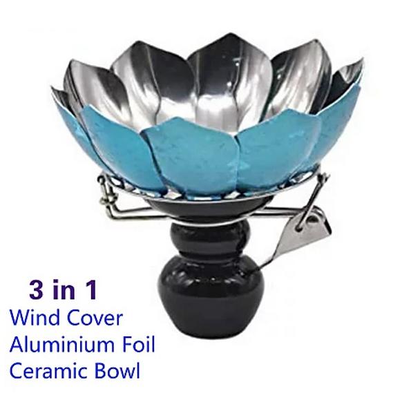 DADODA Ceramic Shisha Hookah Bowl Hookah Head Shisha Charcoal Holder For Chicha Narguile Accessories (BABY BLUE)