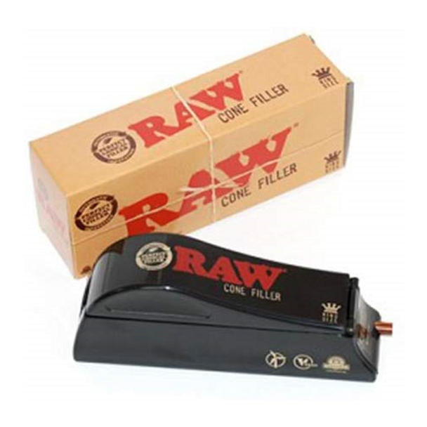 Raw King Size Cone Filler + Raw King Size 32 Cones Per Pack Rolling Papers