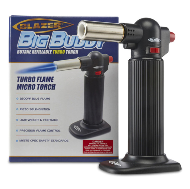 "BLAZER ""Big Buddy"" Turbo Flame MICRO Refillable Butane Torch"
