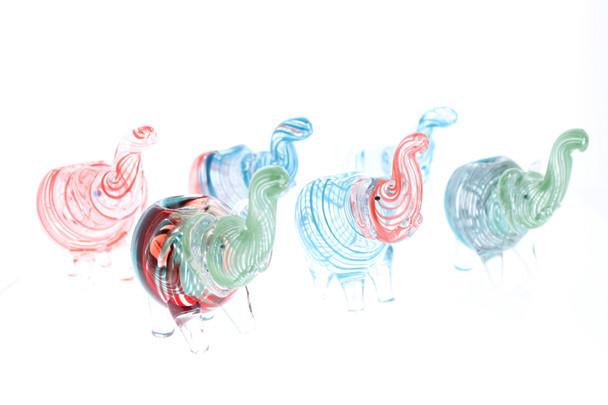 Elephant Swirl Glass Hand Pipe