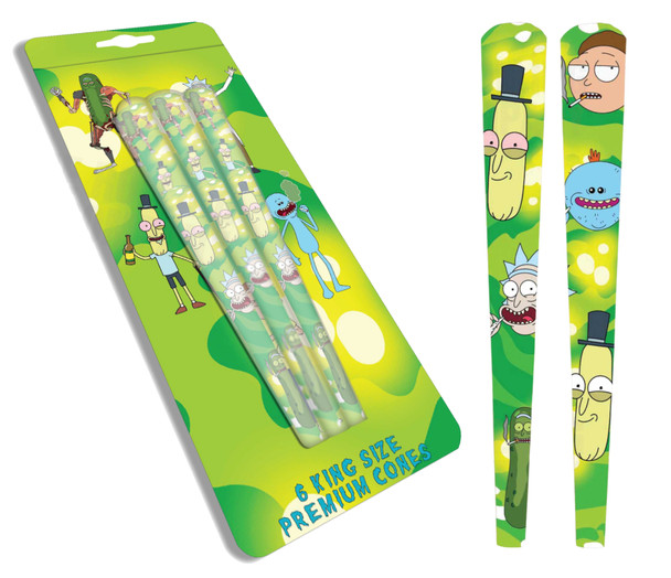 Rick and Morty King Size Premium Cones Rolling Papers (6 Cones)