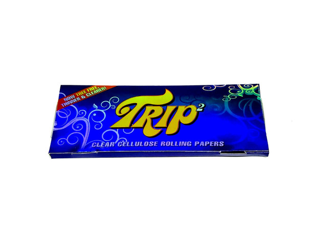 Trip 2 King Size Rolling Papers Transparent 40 Leaves A Pack  NEW