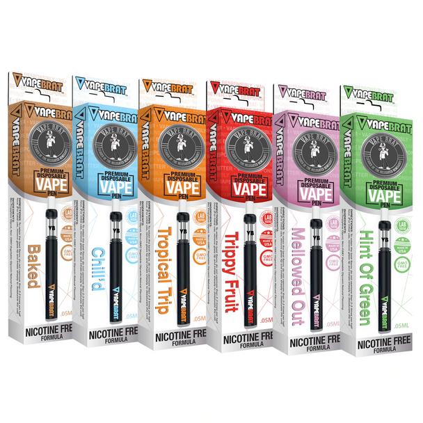 VapeBrat Nicotine-Free Disposable Vape Pen 10 Pack