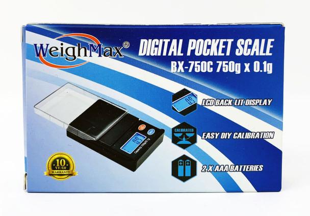Weigh Max Digital Pocket Mini Scale BX-750C 750g x 0.1g