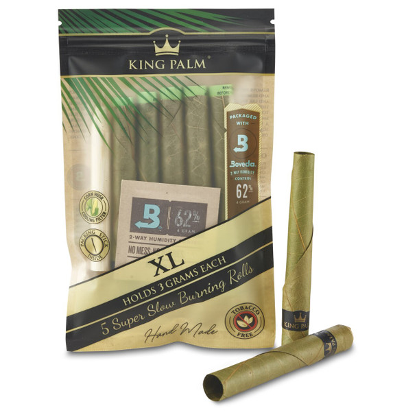 King Palm - XL (3 grams) Cordia Leaf - 5 Rolls