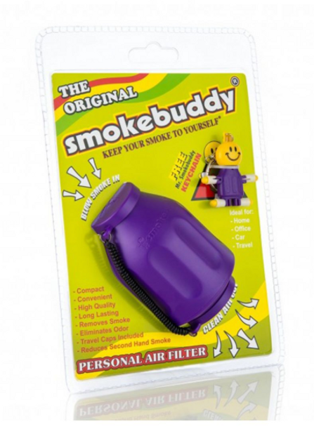 The Original SmokeBuddy Personal Air Odor Purifier Cleaner Filter with keychain -  Purple