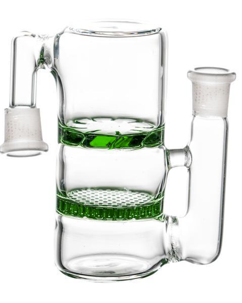 Ash Catcher Double-Sided with Double Perc - Green