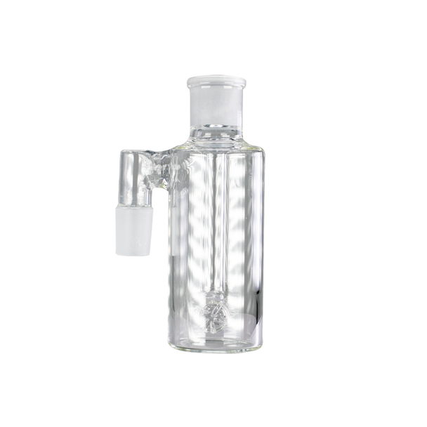 Ash Catcher with Barrel Perc 90 Degree 14mm Male - Clear