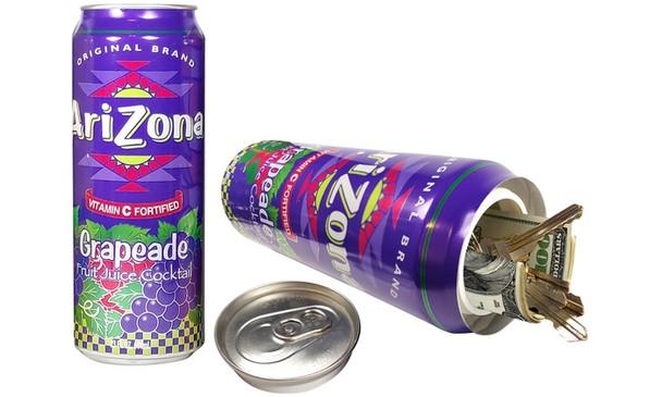 Arizona Diversion Safe Home Security Hidden Stash Can Protect Valuables - Grapeade - 24oz