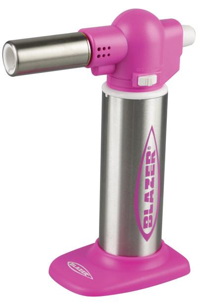 Blazer Big Buddy Turbo Torch Pink & Stainless Steel