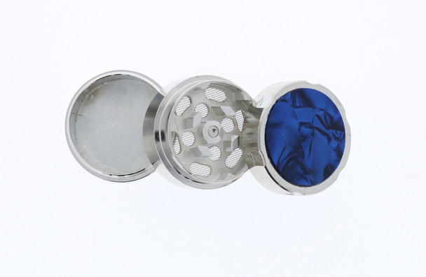 31mm Marble 3 Level Travel Grinder Blue