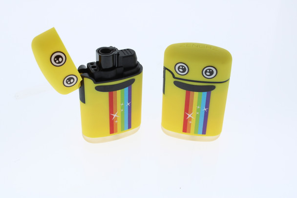 Zengaz Mega Jet Flame Pocket Lighter (Yellow Rainbow)