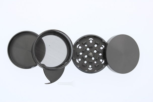58mm Double Cross Grinder with Side Dispensing Compartment Black
