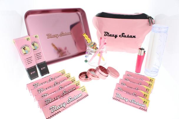 Blazy Susan - Blazy Pink Rolling Kit (17 Piece Gift Kit)