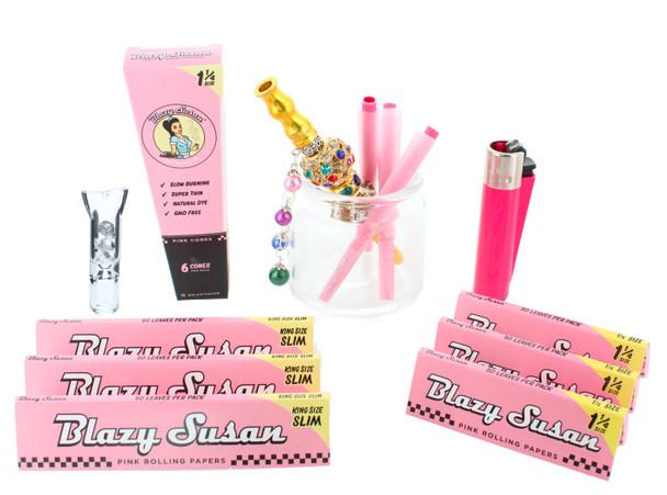 Blazy X Preppy Pink Rolling Kit 11 Piece Gift Kit