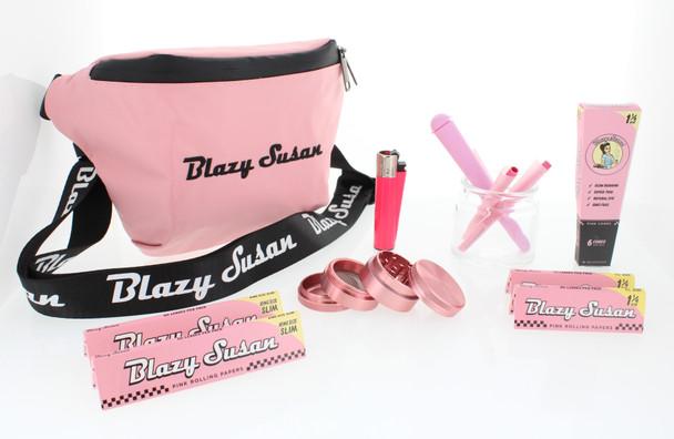 Blazy Susan - Odor Proof Storage Fanny Pack 9 Piece Gift Kit