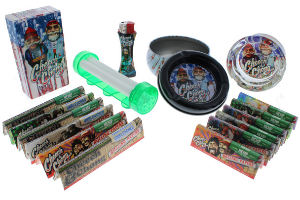 Cheech & Chong Rolling Papers with Accessories Holiday Gift Kit - USA