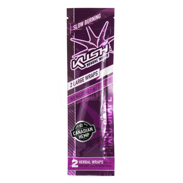 Kush Wraps Herbal Wraps 2 Per Pack - Mixed Grape