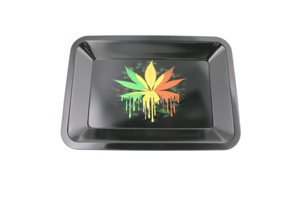 5 x 7 Rasta Leaf Rolling Tray