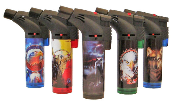 Techno Torch Wild Life Slant Torch Lighter Single Torch