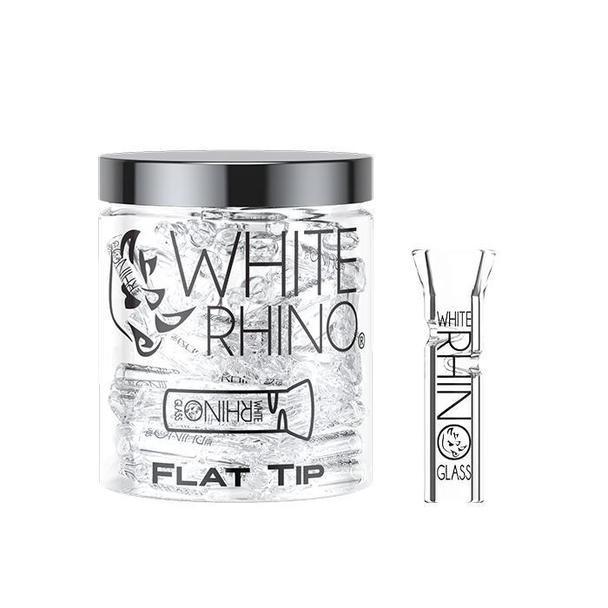 White Rhino Flat Tip Glass Mouth Tip