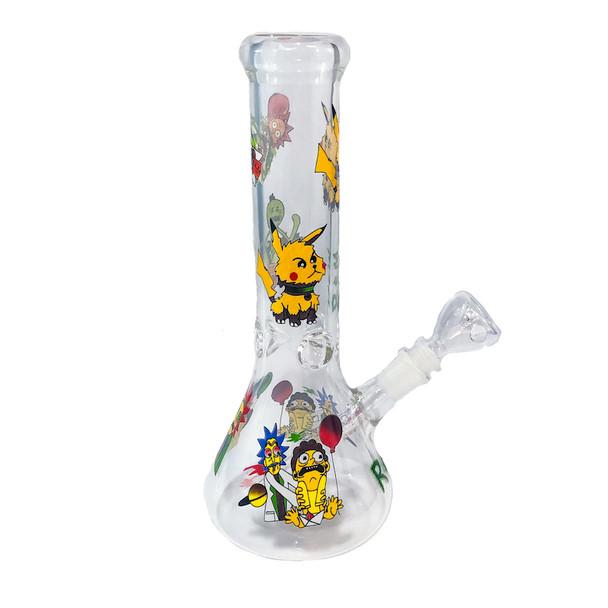 """Glass Beaker Bong: 12"""""""