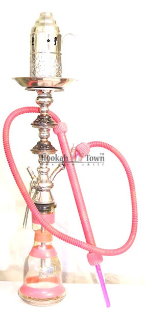 Authentic Handmade Deluxe Egyptian Hookah-Bar Hookah : 036 (Pink)