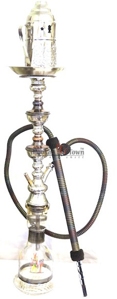 Authentic Handmade Deluxe Egyptian Hookah-Bar Hookah : 040 (Black)