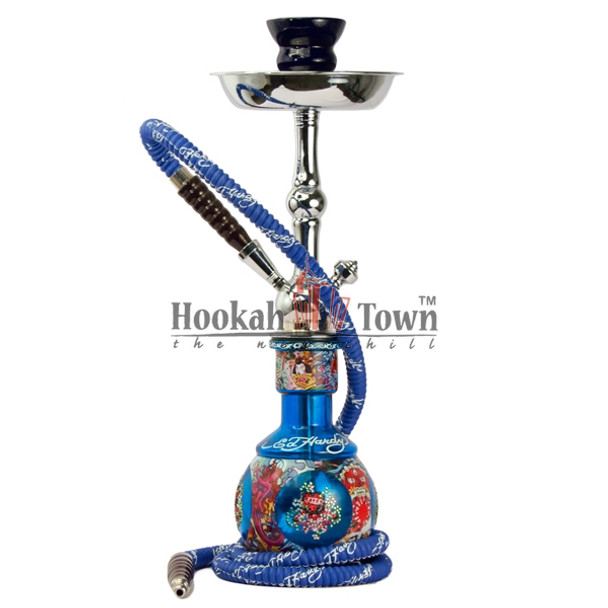 "Ed Hardy Hookah - Limited Edition 18"" - Blue"