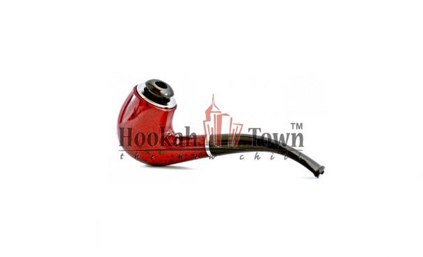 Classic Tobacco Pipe w/ Metal Bowl + Cigarette Adapter