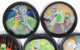 Rick and Morty Dome Top Travel Size Medium 2 Chamber Grinder