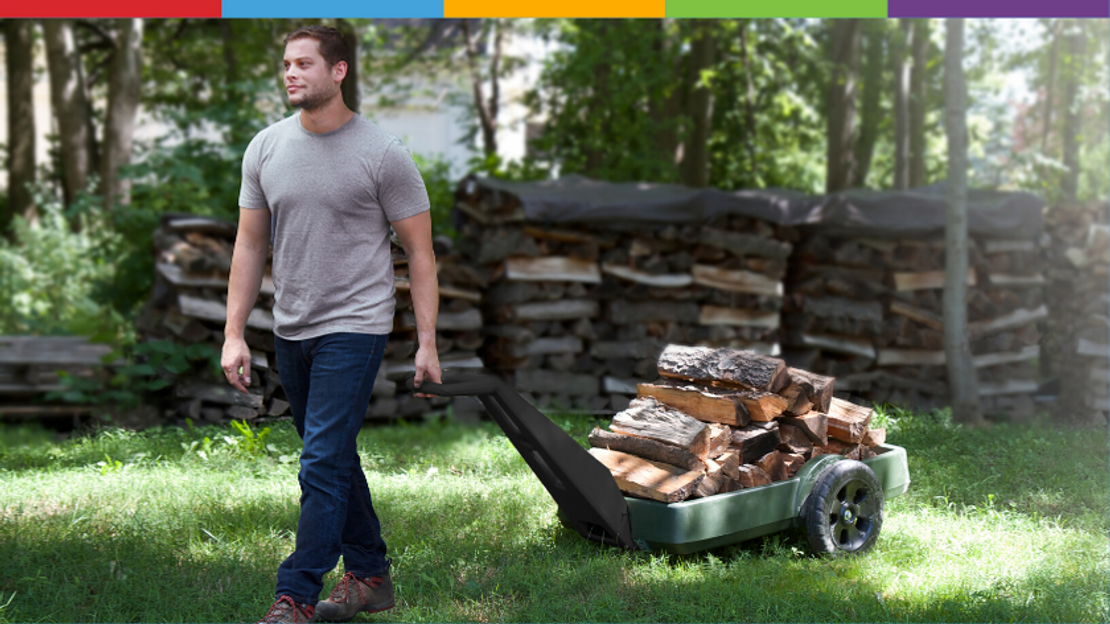 Simplay3's Easy Haul Flatbed Cart Handles Your Gardening Needs
