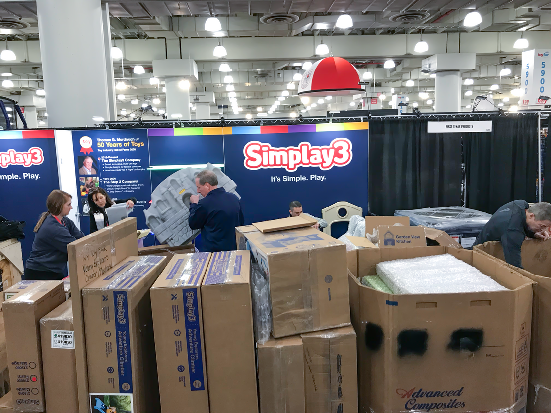 Set Up Day at Toy Fair New York