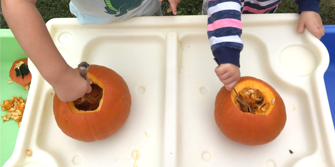 Easy-Clean Pumpkin Sensory Activity