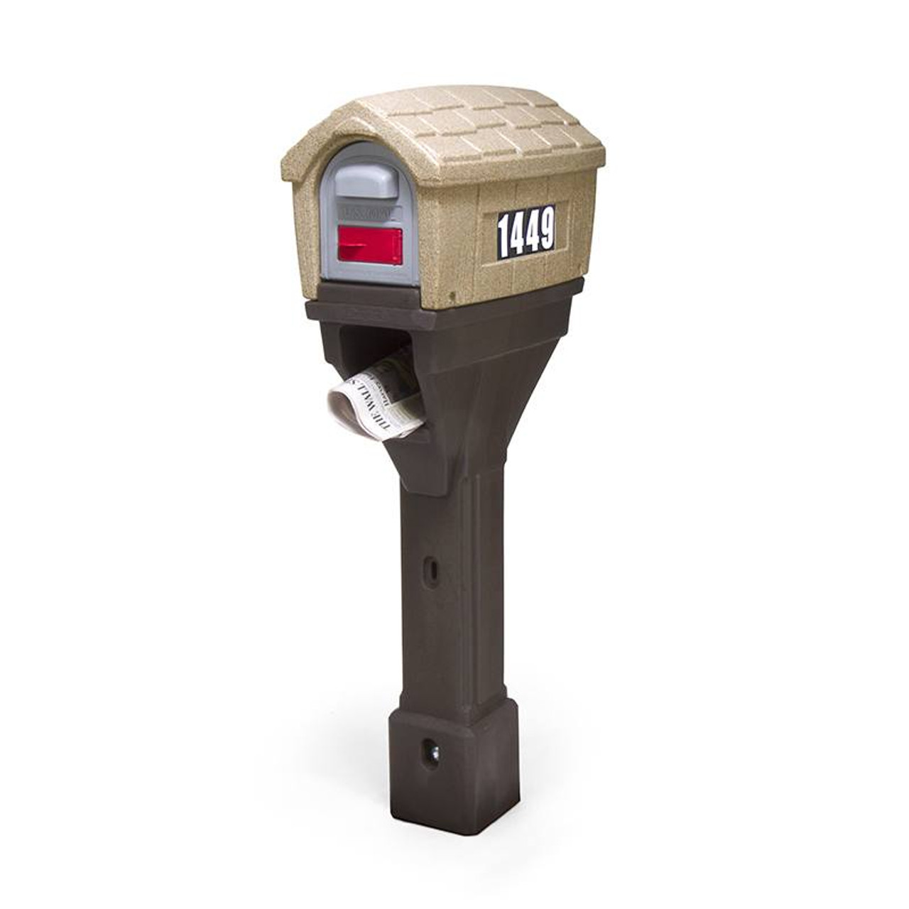 Classic Home Plus Mailbox Mailbox With Newspaper Holder
