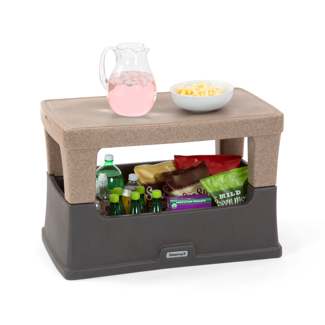 Serve and Store Indoor / Outdoor Multi-Use table for patios, decks, dorms and more